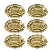 6 Hepplewhite Drawer Pulls Polished Solid Brass 3 1/2 W  | Renovator's Supply