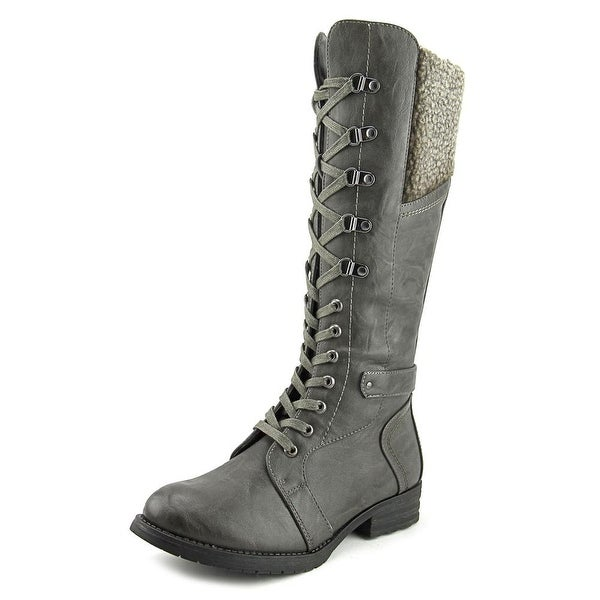 Patrizia By Spring Step Snowball Women Round Toe Synthetic Gray Knee High Boot