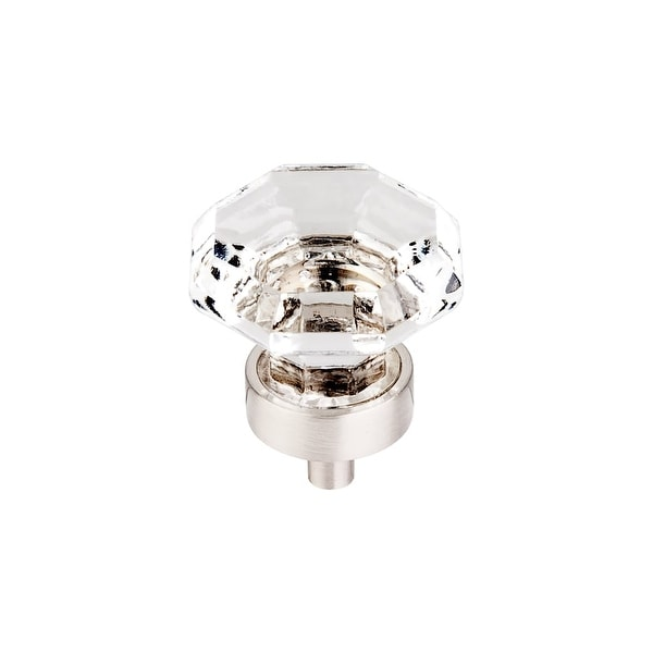 """Top Knobs TK128 Clear 1-3/8"""" Diameter Geometric Cabinet Knob from the Crystal Series - n/a"""