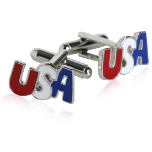 Silver Patriotic Usa America Cufflinks