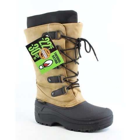 Tundra Womens Tatiana Black/Tan Snow Boots Size 5