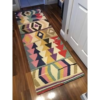 nuLOOM Multicolor Wool Handmade Tribal Arrowheads Area Rug
