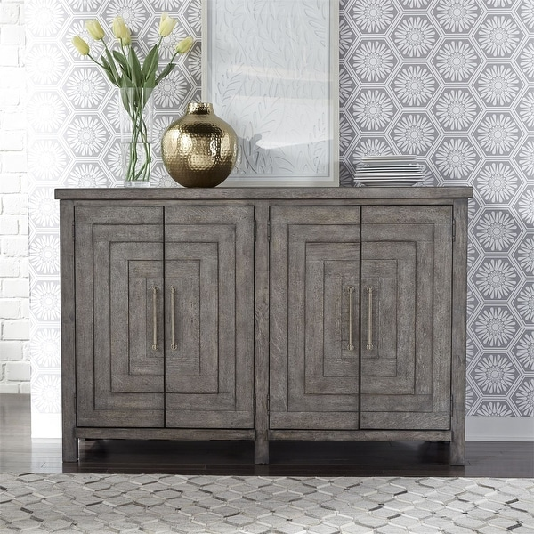 The Gray Barn Hammond Mill Farmhouse Dusty Charcoal 2-drawer Buffet. Opens flyout.