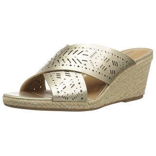 Lucky Brand Womens Keela Leather Open Toe Casual Espadrille Sandals