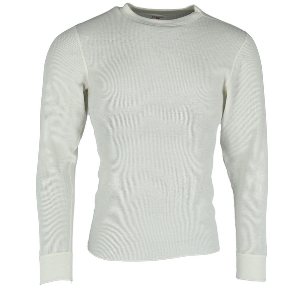 Hanes Mens Waffle Knit Space Dyed Thermal Shirt
