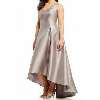 Adrianna Papell Womens Plus Hi-Low Sheath Dress