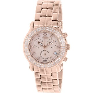 Swiss Precimax Women's Tribeca Elite SP13323 Rose Gold Stainless-Steel Plated Chronograph Dress Watch