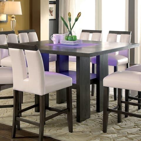 Furniture of America Lumina Contemporary Gray Counter Ht. Table