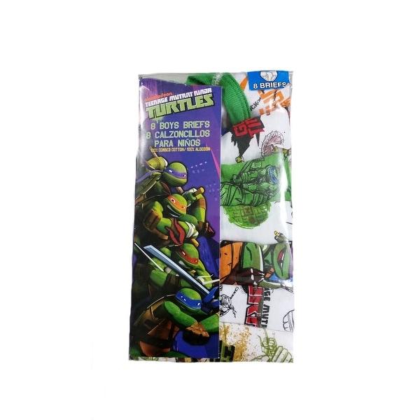 6 Teenage Mutant Ninja Turtle Underwear Boys Briefs 8 Pairs By Nickelodeon Sz 4