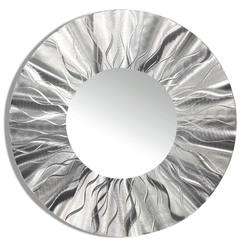 Statements2000 Silver Metal Decorative Wall-Mounted Mirror by Jon Allen - Mirror 105 - Thumbnail 0