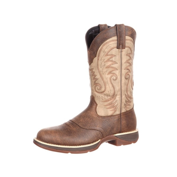 Durango Western Boots Mens Rebel Saddle Waterproof Brown
