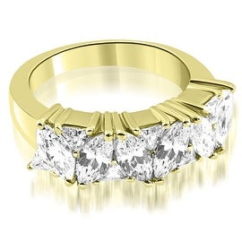 2.60 cttw. 14K Yellow Gold Marquise Round and Trillion Cut Diamond Wedding Band