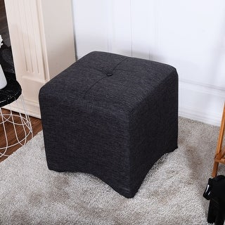 Cortesi Home Braque Brown Faux Leather Ottoman Cube Free