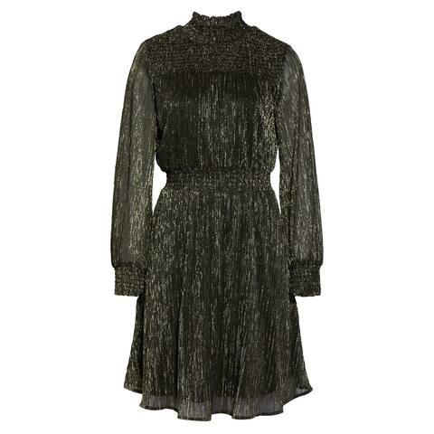 SAM EDELMAN Black Long Sleeve Short Dress 8
