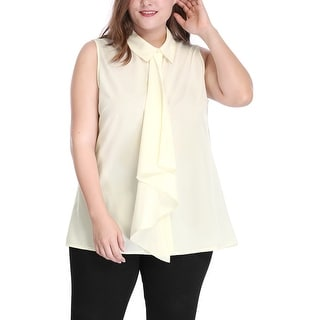 Allegra K  Women's Plus Size Sleeveless Shirt