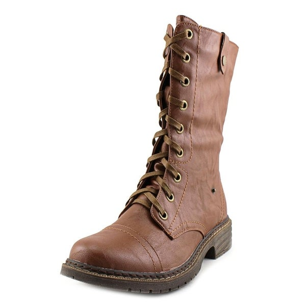 Wanted Crowley Women Round Toe Synthetic Brown Mid Calf Boot