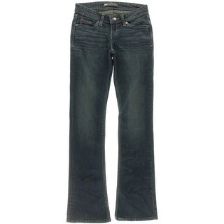 Levis Womens Low Rise Embroidered Slim Bootcut Jeans - 24