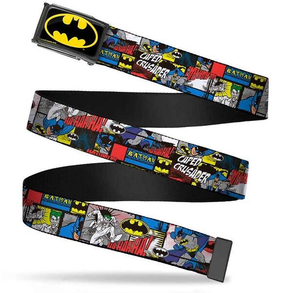 Batman Fcg Black Yellow Black Frame Batman & Joker Comic Blocks Web Belt