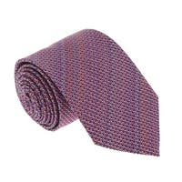 Missoni U4313 Pink/Red Basketweave 100% Silk Tie - 60-3
