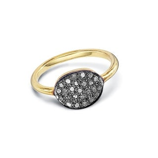 Women's Diamonde Gold-Plated Round Ring - Gold