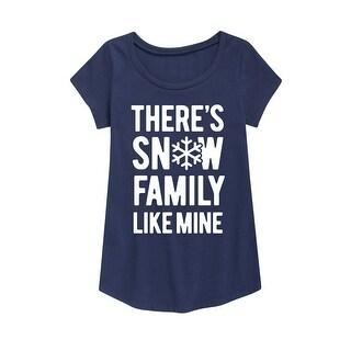Snow Family Like Mine - Youth Girl Short Sleeve Curved Hem Tee