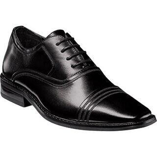 Stacy Adams Boys' Bingham Cap Toe Oxford 43380 Black Synthetic