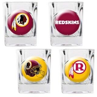 Great American Products Washington Redskins Shot Glass Set 4pc Collectors Shot Glass Set