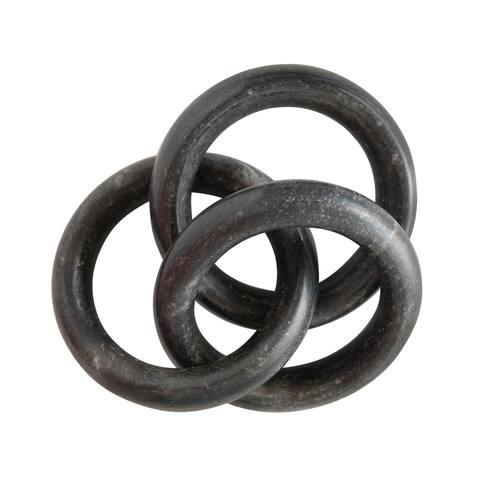 Marble Circle Chain Decor, Black
