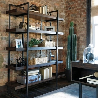 Link to Starmore Brown Wood and Black Metal Bookcase Similar Items in Bookshelves