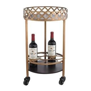 Sterling Industries 51-015 Circular Quatrefoil Bar Cart