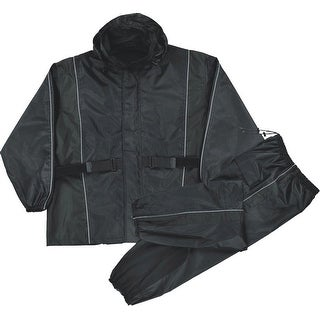Mens Waterproof Rain Suit Reflective Piping / Heat Guard