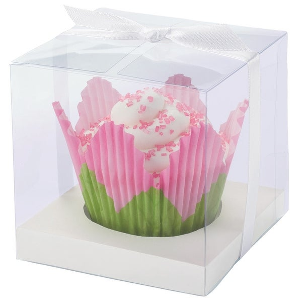 Cupcake Boxes-1 Cavity White 20/Pkg