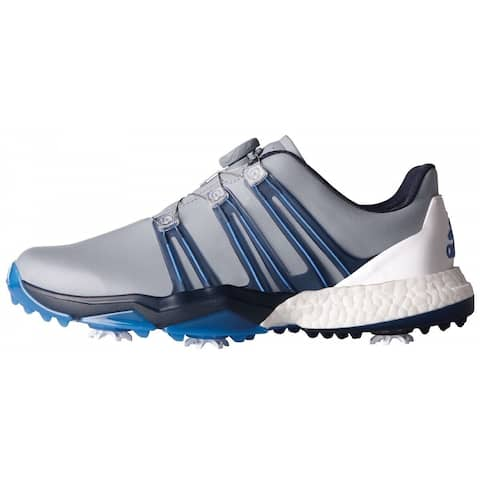 bc7e5c31a Adidas Men s Powerband BOA Boost Light Grey Slate B. Blue Golf ShoesQ44770