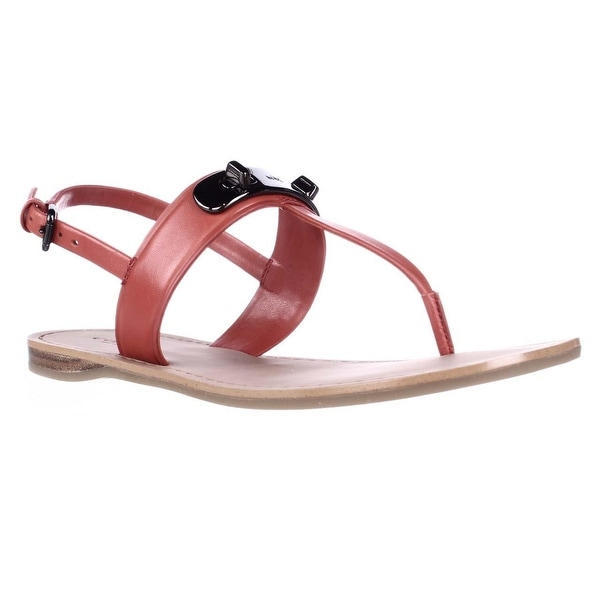 04a19bde70b78b Shop Coach Gracie Flat T-Strap Slingback Sandals
