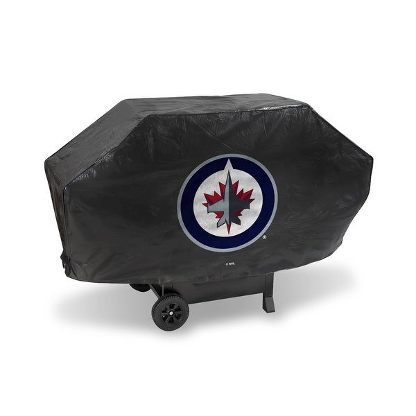 """68"""" x 35"""" Red and White NHL Winnipeg Jets Deluxe Grill Cover - N/A"""
