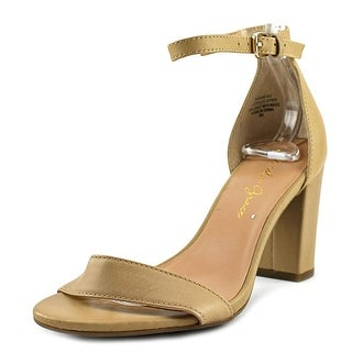 Amelia Grace Nadine   Open-Toe Leather  Slingback Heel