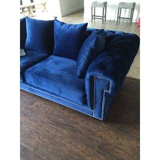 Charles Chesterfield Velvet Tufted Sofa