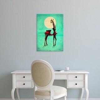 Easy Art Prints Ali Gulec's 'Giraffe' Premium Canvas Art