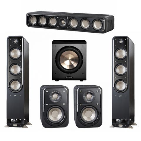Polk Audio Signature 5.1 System with 2 S60 Speakers, 1 Polk S35, 2 Polk S10 Speakers, 1 BIC/Acoustech PL-200 Sub