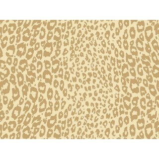 """Pack of 1, Golden Cheetah 18"""" x 417' Gift Wrap Half Ream Roll for Party, Kids' Birthday, Wedding & Occasion"""