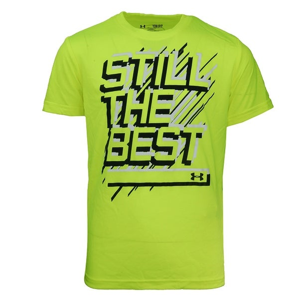 18a73112e78 Shop Under Armour Boys  UA Still The Best S S T-Shirt - hi vis yellow white black  - Free Shipping On Orders Over  45 - Overstock - 23500233