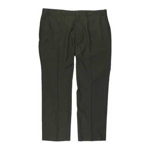 Tallia Mens Solid Color Dress Pants Slacks, Grey, 34W x 32L - 34W x 32L