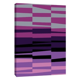 "PTM Images 9-108763  PTM Canvas Collection 10"" x 8"" - ""Monochrome Patterns 7 in Purple"" Giclee Abstract Art Print on Canvas"