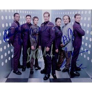 Signed Star Trek Enterprise 8x10 Photo by Scott Bakula John Billingsley Jolene Blalock Dominic Keat