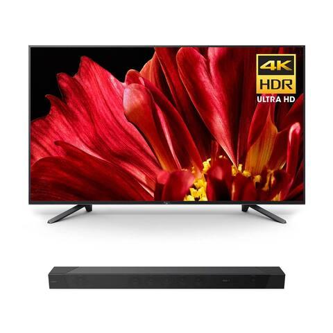 "Sony XBR-65Z9F 65"" MASTER Series BRAVIA 4K HDR UHD TV with HT-ST5000 7.1.2ch 800W Dolby Atmos Sound Bar - Black"