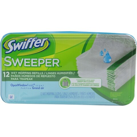 Swiffer Cloths Wet Mopping Refills, Fresh Scent 12 ea