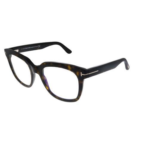 Tom Ford FT 5537-B 052 Womens Dark Havana Frame Eyeglasses 52mm