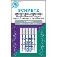 Chrome Microtex Machine Needles-Size 70/10 5/Pkg