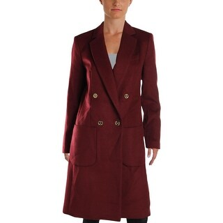MICHAEL Michael Kors Womens Pea Coat Winter Wool Blend