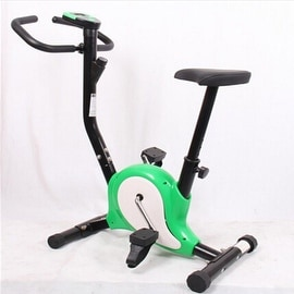 Home Gym Portable Upright Stationary Belt Exercise Fitness Bike Cycle Bicycle Green